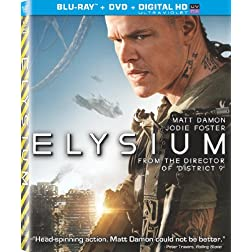 Elysium (Two Disc Combo: Blu-ray / DVD + UltraViolet Digital Copy)