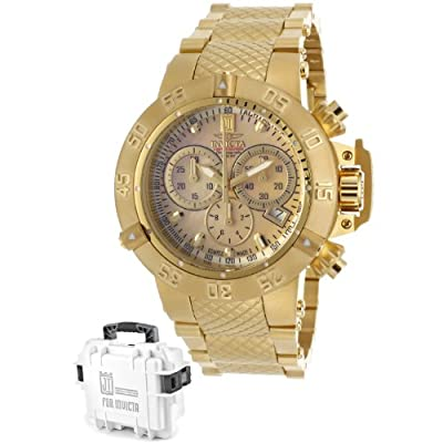 Invicta Women's 14597 Jason Taylor Analog Swiss-Quartz Gold Watch