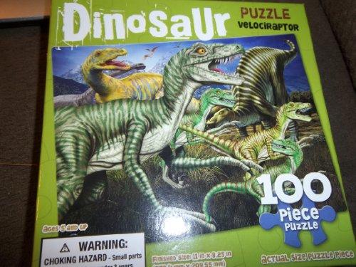 Dinosaur - Velociraptor 100 Piece Puzzle - 1
