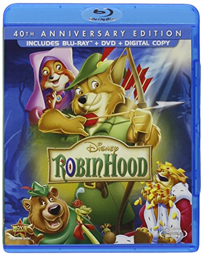 Blu-ray : Robin Hood: 40th Anniversary Edition (With DVD, Anniversary Edition, AC-3, Dolby, )