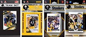 NFL Pittsburgh Steelers 4 Different Licensed Trading Card Team Sets by C&I Collectables