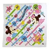 ミッキー&ミニー《メルヘンクラウド》身長計付き湯上げガーゼタオル ディズニーキャラクターグッズ