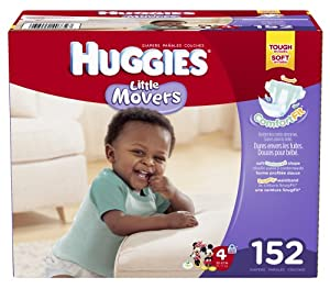 Huggies Little Movers Diapers, Size 4, 152 Count