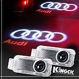 KingCK Audi 1 Min Easy Installation No Drilling No Wiring High Definition Car Door Courtesy Light Ghost Shadow Light Logo Projector Door Step Light Pack of 2