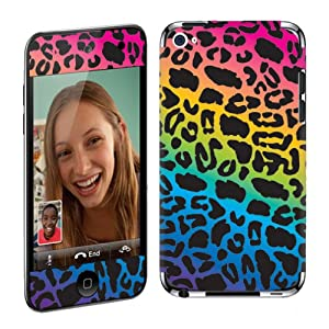 Apple iPod Touch 4G (4th Generation) Vinyl Protection Decal Skin Rainbow Leopard