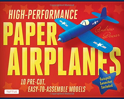 High-Performance Paper Airplanes Kit: 10 Pre-cut, Easy-to-Assemble Models [Origami Kit with Pop-Out Cards, Book, & Catapult] (Child Models compare prices)