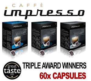 Choose 60 x Caffè Impresso Nespresso Compatible Capsules - Great Taste 2013 Winners - Triple Pack - Caffè Impresso from Computerstar