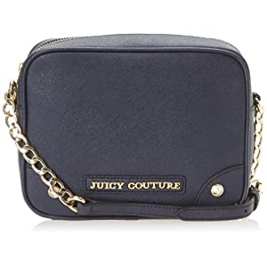 Juicy Couture Sophia Leather Collection Camera Cross Body Bag,Regal,One Size