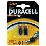 Guilty Gadgets ® - 2 x Duracell 23A, 23AE, A23, V23GA, MN21, LRV08 12V Alkaline Battery Batteries For Car Security alarm systems and Car Keys