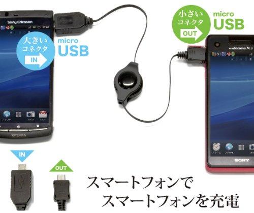 日本トラストテクノロジー スマホで充電 レスキューケーブル for microUSB JTT RESQCABLE