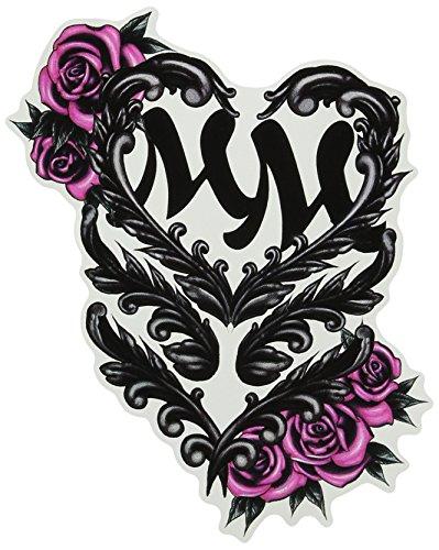 Metal Mulisha Juniors Antique Logo 25 Pack Sticker Black Winter White Pink One