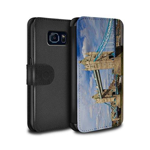 STUFF4 PU Pelle Custodia/Cover/Caso/Portafoglio per Samsung Galaxy S6/G920 / Tower Bridge / Siti Londra disegno