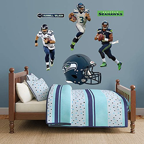 Russell-Wilson-Hero-Pack-REAL-BIG-Fathead-Wall-Graphics-Assorted-on-a-33-x-44-sheet