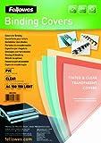 Fellowes  5376001 - Pack de 100 Couvertures PVC A4 150 Microns - Transparent