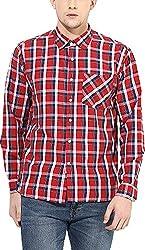 Y.U.V.I. Men's Blended Regular Fit Casual Shirt (11113049-S, Multi-Coloured, Small)