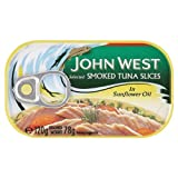 John West Smoked Tuna Slices in Sunflower Oil 6x120g