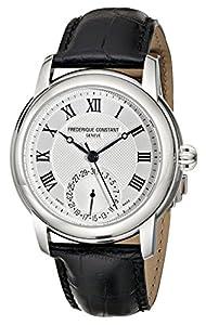 Frederique Constant Men's FC710MC4H6 Maxime Black Leather Strap Watch