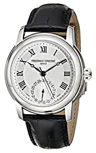 Frederique Constant Men's FC710MC4H6 Maxime Stainless Steel Watch With Black Leather Band