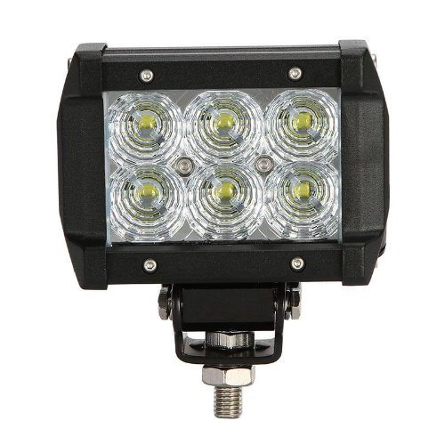 18W 1260Lm 6X3W Cree Led 24V 12V Truck Suv Van Camper Wagon Car Pickup Off-Road Flood Beam 60 Degree Driving Work Light Waterproof 68 Degree