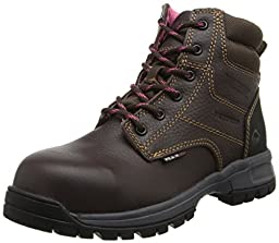 Wolverine Women\'s W10180 Piper Safety Toe Work Boot, Brown, 6.5 M US