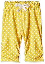 Little Kangaroos Baby Girls' Leggings (PL-11884_Yellow_3 months)