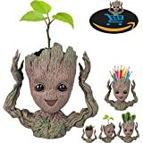 Prime Sale Day Deals Week Amazon 2018-Creative Groot Planter Pot Guardians of The Galaxy Flowerpot Baby Groot Action Figures Cute Model Toy Pen Pot Pencil Holder Best Gifts For Kids (Hands Up Groot) (Color: Hands Up Groot)