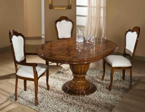 VIG Elizabeth - Round Extendable Dining Table Made in Italy