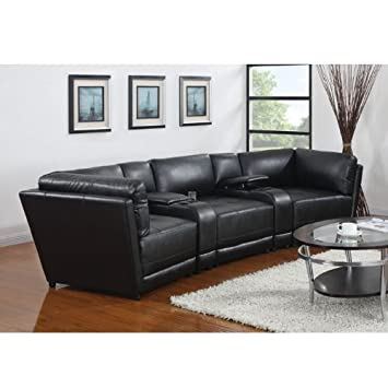 Kayson Sectional Console Black