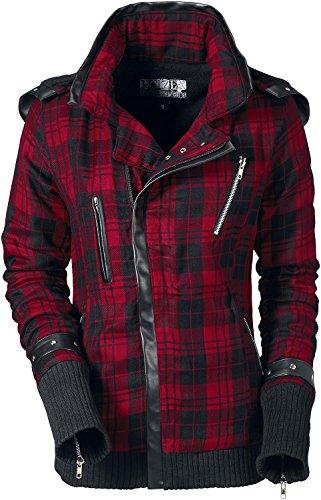 Poizen Industries Z Jacket Giacca donna nero/rosso XL