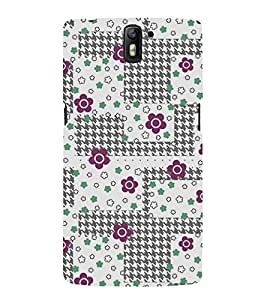 Floral Pattern Back Case Cover for One Plus One::One Plus1