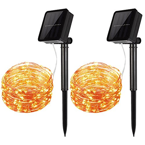 Amir-Solar-Powered-String-Lights-100-LED-Starry-String-Lights-IndoorOutdoor-Copper-Wire-Lights-Ambiance-Lighting-for-Gardens-Patios-Homes-Parties-Warm-White-Pack-of-2