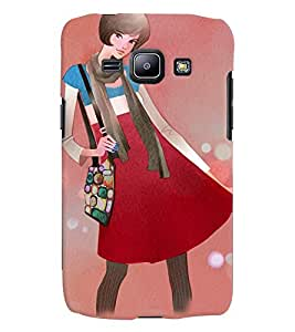 Fuson Style Girl Back Case Cover for SAMSUNG GALAXY J1 - D3649