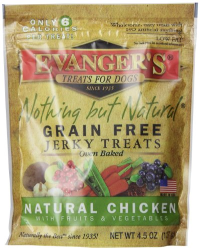 EVANGERS-776300-Nothing-But-Natural-Organic-Chicken-Dog-Treats-45-Ounce