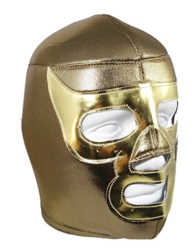 RAMSES Adult Lucha Libre Wrestling Mask (pro-fit) Costume Wear - Gold