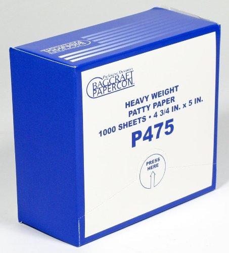 Hamburger Patty Paper, Heavy Weight, Box of 1000 Sheets