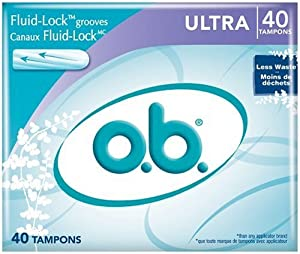 o.b. Ultra Absorbency Tampons, 40-Count Boxes (Pack of 3)
