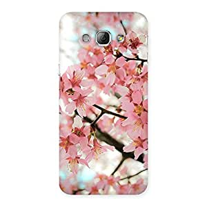 Delighted Cherry Blossoms Multicolor Back Case Cover for Galaxy A8