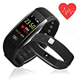 Fitness Tracker,Newest K-berho Colorful Screen Heart Rate Blood Pressure Blood oxygen Monitor Waterproof Activity Tracker and Workout Tracker Bluetooth Smart Bracelet Watch for IOS & Android