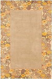 eCarpetGallery Handmade Elegance 5-Feet 3-Inch by 8-Feet 0-Inch Wool Rug, Khaki