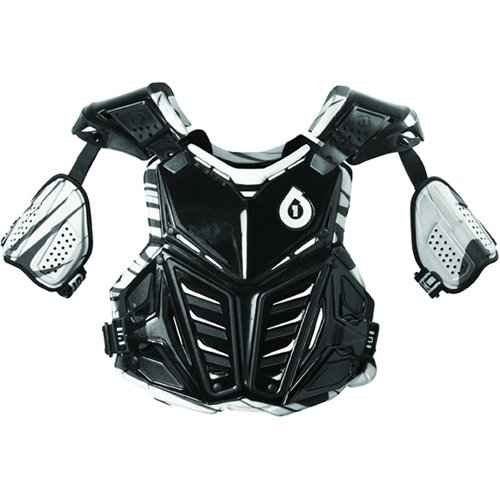 SixSixOne Prodigy Camber Adult Roost Deflector Off-Road/Dirt Bike Motorcycle Body Armor - Black / Large