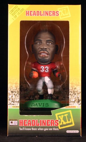 TERRELL DAVIS / UNIVERSITY OF GEORGIA BULLDOGS 1998 Limited Edition Headliners XL Premier Collection * 1 of only 15,000 *