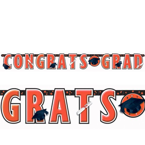 Red Graduation Giant Letter Banner - 1