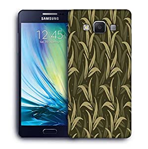 Snoogg Green Leaves Printed Protective Phone Back Case Cover For Samsung Galaxy A5