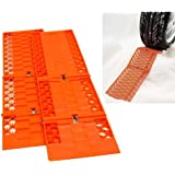 Jazooli Pair Tyre Wheel Grip Traction Mat Tracks for Snow Ice Mud Sand Rescue Car Van x2