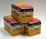 Kodak Tmax 100 36exp 3 Pack Black and White Film