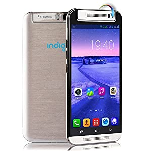 Indigi® Unlocked! M7 RotateCam 5.5-inch 3G Android 4.4 Smart Cell Phone aT&T T-mobile (Gold)