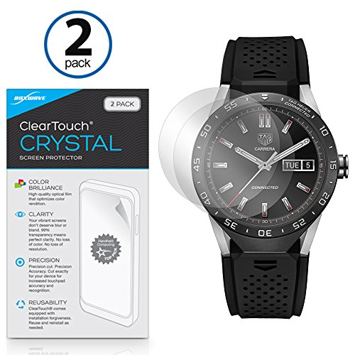 tag-heuer-connected-screen-protector-boxwaver-cleartouch-crystal-2-pack-hd-film-skin-shields-from-sc