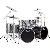Pearl Export Double Bass 8-Piece Drum Set Smokey Chrome (Smokey