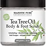 Majestic Pure Tea Tree Oil Body and Foot Scrub - 12 oz