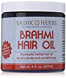 Brahmi Hair Oil | all natural herbal hair oil for growth, conditioning, and dry scalp | made with saffron and organic coconut oil